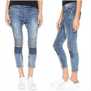 ☆RARE☆ NEW One Teaspoon Killers Cropped Moto Jeans
